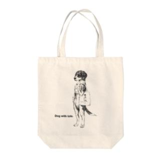 トート提げた犬トート(ビーグル) Tote bags