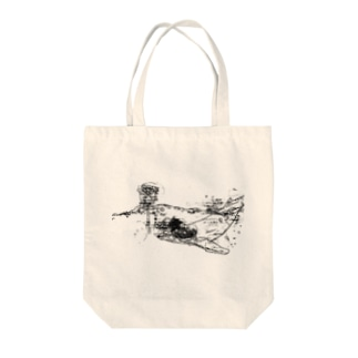 くじらと薔薇 Tote bags