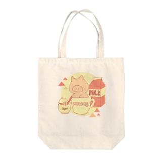 MugPig(レトロ) Tote bags