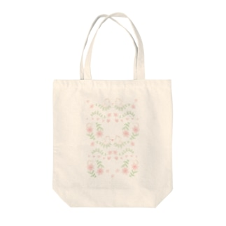 ハリネズミと花 Tote bags