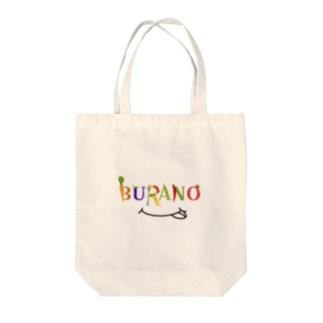 BURANO ロゴシリーズ(黒) Tote bags