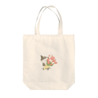 チューリップの花束 Tote bags