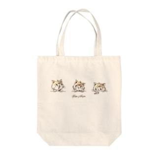 三毛猫むぎ Tote bags