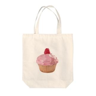 ラズベリーカップケーキ Tote bags