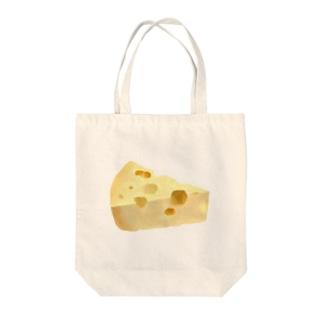 ただのチーズ Tote bags