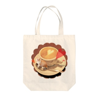 Chino&Cocoのカプチーノちの Tote bags