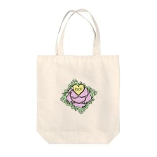 HEART ROSE BAG Tote bags