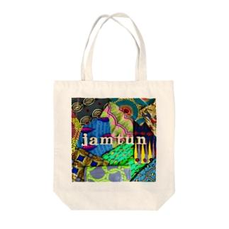 ジャムタンロゴ写真 Tote bags