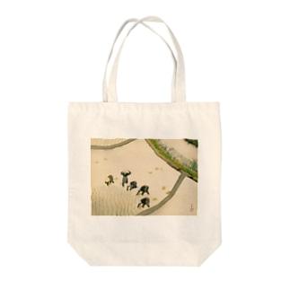 川合玉堂《早乙女》 Tote bags