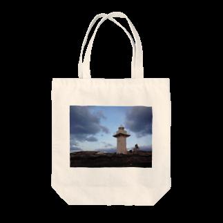 Pokkekkeの夜を背にした岬 Tote bags