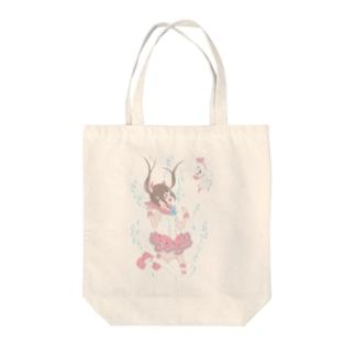 ましろ あみの魔法少女と湖の天使 Tote bags