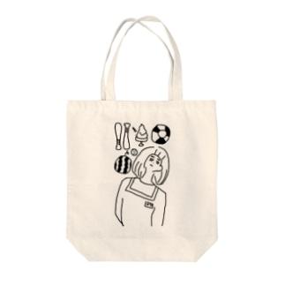 ナツのアタマのナカ Tote bags