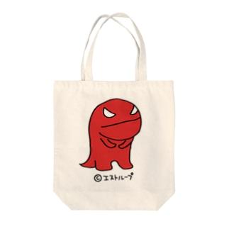 赤いかいじゅうくん うんトート Tote bags