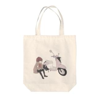 休日の過ごし方 Tote bags