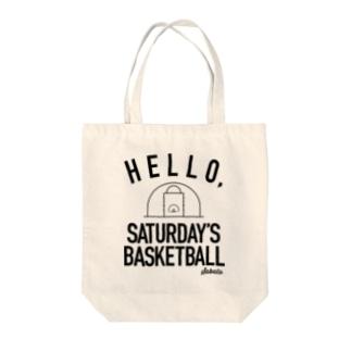 土曜バスケ Tote bags