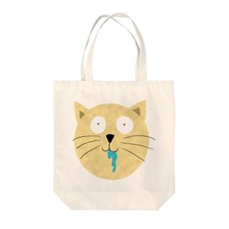 ひどい猫のトートバッグ Tote bags