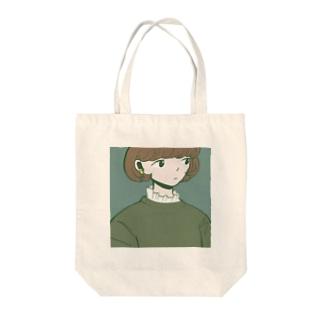 レースインナーの女の子 Tote bags