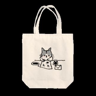 ほっかむねこ屋@10/5~10/10 吉祥寺駅 期間限定ショップのてがみかくねこ トートバッグ