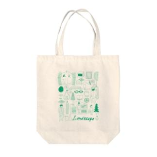 life landscape Tote bags