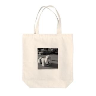 kazaruruのメロディーカー/モノクロ Tote bags