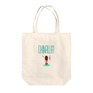 OKINAWA[トップレスガール] Tote bags