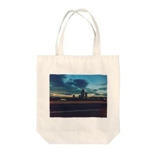 Highway Tote bags