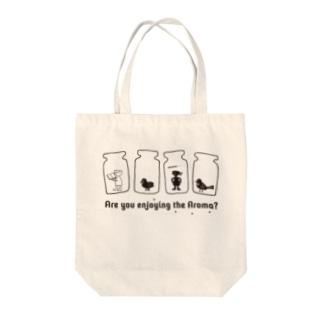 koko_ha_shop. Are you enjoying the Aroma? Tote bags