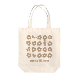 koko_ha_shop. onnellinen ライトカラー Tote bags
