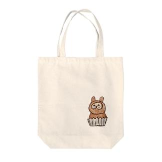 たぬきのケーキ Tote bags