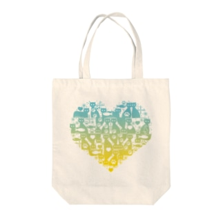 Cattower [Blue to Yellow] Tote bags