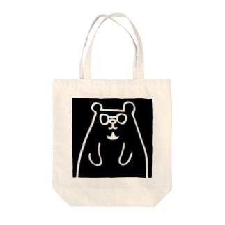 トミクマ ブラック×ホワイト Tote bags