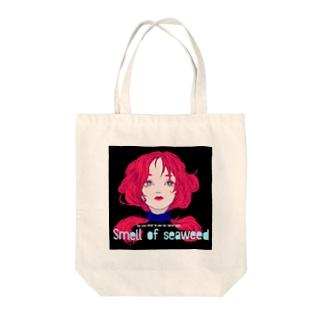 人魚の生首 Tote bags