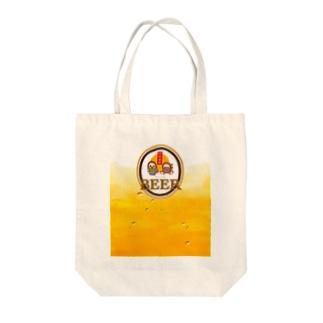 アマビエさんとアマビコさん(もっと!なんちゃってビアラベル) Tote bags