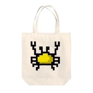 黄色カニアイコン Tote bags