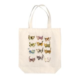 猫ブロック2 Tote bags