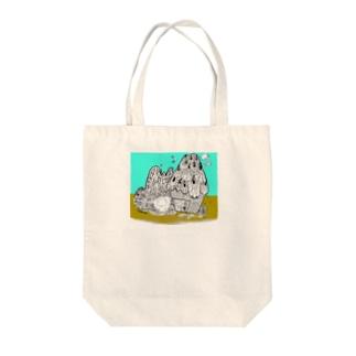 自然保護キャラクター モンパルロ Tote bags