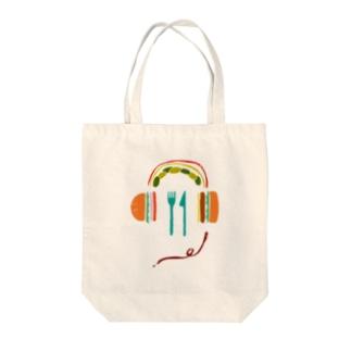 Music Burger Tote bags