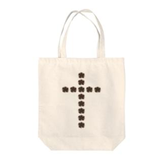 flower cross Tote bags