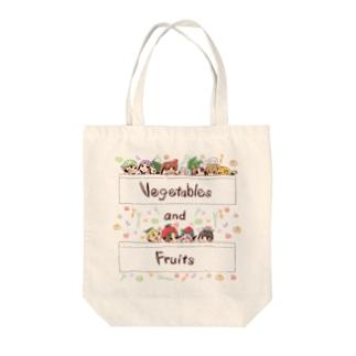 野菜娘と果物娘 ポケットイン Tote bags