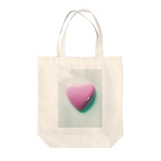 かわいいハート形💚 Tote bags