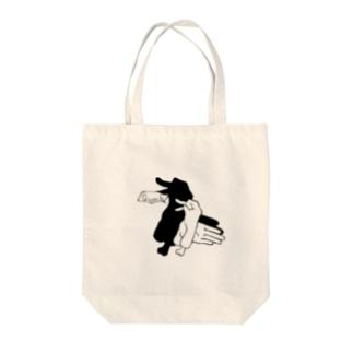 影絵ハンズ(アヒル) Tote bags