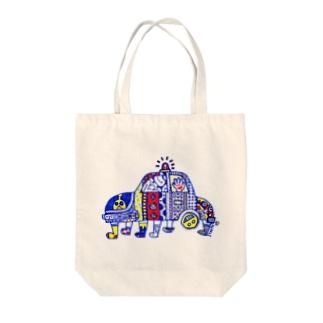 ブーブー Tote bags