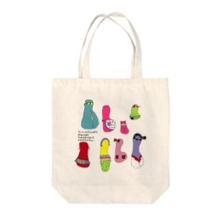 パプスカファミリー Tote bags