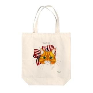 ミミンヌのお顔トート Tote bags