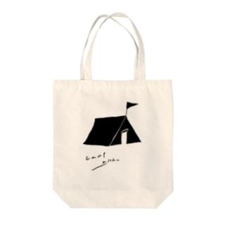 キャンプ Tote bags