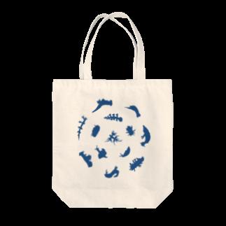 ウミウシャ-のウミウシルエット(ブルー) Tote bags