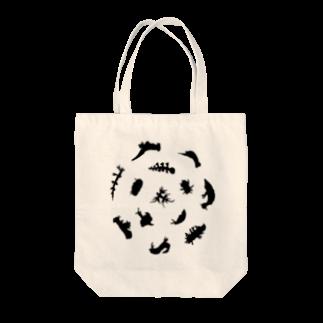 ウミウシャ-のウミウシルエット(ブラック) Tote bags