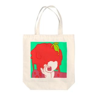 あえんりんご Tote bags