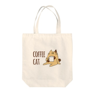 COFFEE CAT Tote bags