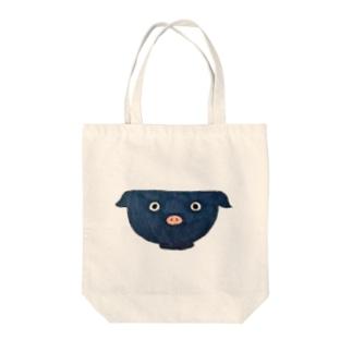 トンぶりちゃん Tote bags